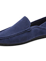 Men's Shoes Nubuck leather Spring Fall Light Soles Loafers & Slip-Ons For Casual Blue Gray Black