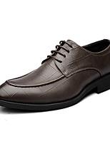 Masculino sapatos Couro Microfibra Todas as Estações Outono Sapatos formais Oxfords Para Casual Preto Marron