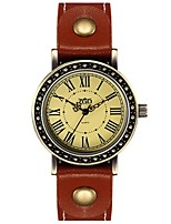 Women's Fashion Watch Quartz Leather Band Black Orange Brown