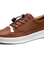 Men's Shoes PU Spring Fall Comfort Sneakers For Casual Red Brown