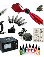 Starter Tattoo Kit 1 rotary machine liner & shader 15 7 × 15ml Tattoo Ink 5 x disposable grip Complete Kit
