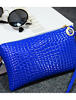Women Bags PU Crossbody Bag Zipper for Casual All Seasons Blue Black Yellow