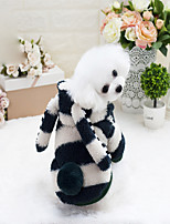 Dog Sweatshirt Dog Clothes Check Stripe Green Pink Costume For Pets