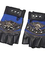 Спортивные перчатки Перчатки для велосипедистов Пригодно для носки Дышащий Защитный Без пальцев Кожа Ткань Велосипедный спорт / Велоспорт