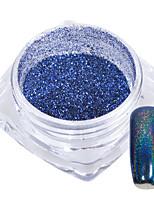 1g/Bottle Graceful Blue Rainbow Sparkling DIY Nail Art Glitter Powder Decoration Holographic Chrome Pigment Dust 02