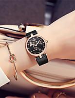 Mulheres Relógio de Moda Quartzo Couro Banda Preta Branco Vermelho