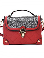 Women Bags All Seasons PU Tote Buttons for Casual Outdoor Black Red Blushing Pink Brown