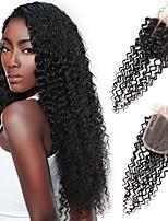 3 стиль закрытие вьющиеся волны виргинские бразильские волосы 100% настоящие кружевные крышки натуральный цвет волос мягкий и шелковистый
