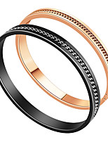 Homme Femme Bracelets Rigides Amour Cœur Acier inoxydable Forme de Cercle Bijoux Pour Fiançailles Cérémonie