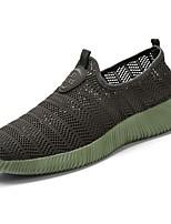 Для мужчин обувь Тюль Весна Осень Удобная обувь Мокасины и Свитер Назначение Повседневные Черный Темно-серый Военно-зеленный