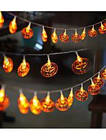LED String Light Pumpkin Shape 6W 6LM 10M 20LEDS Yellow AC220V