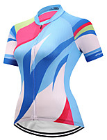 FUALRNY® Cycling Jersey Women's Short Sleeves Bike Jersey Reflective Strip Anti-Slip Quick Dry High Elasticity Breathability Coolmax
