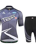 Cycling Jersey with Shorts Men's Short Sleeves Bike Sweatshirt Jersey Padded Shorts/Chamois Clothing Suits Lightweight Terylene LYCRA®