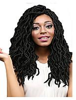 Dread Locks Hair Braid Crochet Curly Ombre Braiding Hair 100% Kanekalon Hair Black 18