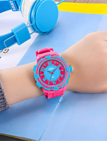 Women's Fashion Watch Quartz Rubber Band Pink