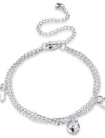 Women's Anklet/Bracelet Silver Plated Alloy Fashion Personalized Circle Geometric Jewelry For Party Gift Daily Casual Evening Party