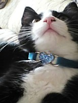 Dog Collar Foldable With Bell Heart Plush Fabric