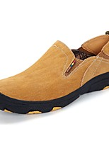 Men's Shoes Nubuck leather Spring Fall Comfort Sneakers For Casual Khaki Coffee Yellow Gray