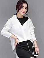 Camicia Da donna Ufficio Per uscire Sensuale Sofisticato Tinta unita Colletto Elastene Manica lunga Sottile