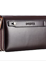 Men Bags All Seasons Other Leather Type Clutch Zipper for Casual Coffee