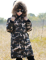 Boys' Camouflage Down & Cotton Padded,Cotton Winter Long Sleeve