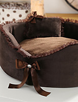 Dog Bed Pet Mats & Pads Solid Coffee Beige