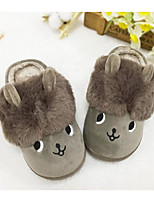 Girls' Shoes Cotton Fall Winter Comfort Slippers & Flip-Flops For Casual Khaki Green Purple Gray