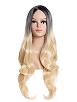 Women Synthetic Wig Capless Long Body Wave Blonde Ombre Hair Natural Wigs Costume Wig