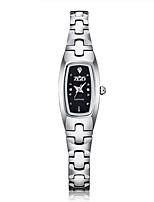 Mulheres Relógio de Moda Quartzo Aço Inoxidável Banda Prata Dourada
