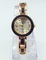 Per donna Orologio braccialetto Orologio da polso Orologio alla moda Quarzo Lega Banda Casual Oro rosa