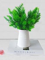 3Pcs/lot Brick Artificial Plants  7 Fork 35cm Little pine Home Decoration