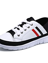 Women's Shoes Rubber Fall Comfort Sneakers Flat Heel Round Toe Lace-up For Outdoor White/Green Black/White Red