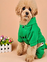 Cane Cappottini Tuta Abbigliamento per cani Cosplay Casual Tinta unita