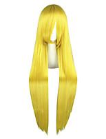 Femme Perruque Synthétique Long Droit crépu Blond Perruque de Cosplay Perruque Déguisement