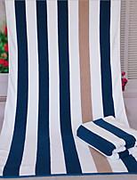 Style frais Serviette de bain,Rayures Qualité supérieure Mélangé polyester/coton Serviette