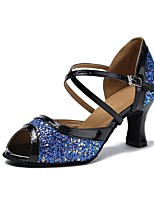 Da donna Balli latino-americani Brillantini Sandali Tacchi Sneaker Per interni Brillantini Paillettes A stiletto Nero Argento Verde Blu
