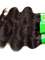 cheap -3 Pieces Natural Black Virgin Indian Human Hair Weaves Hair Extensions