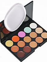 1PCS 15 Color Pro Contour Face Cream Facial Concealer Palette & 1 SiliSponge Blender Silicone Liquid Puff