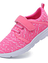 Girls' Shoes Knit Fabric Net Fall Winter Vulcanized Shoes Comfort Athletic Shoes Running Shoes Magic Tape Lace-up For Athletic Casual