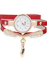 Women's Bracelet Watch Casual Watch Quartz Rhinestone Leather Band Casual Black White Blue Red Orange Green Gold