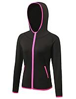 Women's Running Jacket Long Sleeves Anatomic Design Stretchy Breathability Hoodie Sweatshirt for Running/Jogging Camping / Hiking Cycling