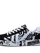 Men's Shoes PU Spring Fall Comfort Sneakers For Casual Black/Blue Black