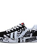 Homme Chaussures Polyuréthane Printemps Automne Confort Basket Pour Décontracté Noir Noir / bleu.