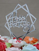 Cake Topper Birthday Acrylic Euramerican Plastic Birthday with 1 OPP