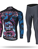 Cycling Jersey with Tights Men's Long Sleeves Bike Clothing Suits Quick Dry Windproof Winter Sports Heat Retaining Fashion Autumn/Fall