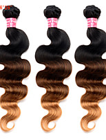 economico -3 pezzi Nero / Medio Brown / Strawberry Blonde Malese Tessiture capelli umani Extensions per capelli