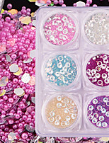 6 nail art décoration strass perles maquillage cosmétique nail art design