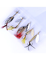 5 pcs Hard Bait Spoons g/Ounce mm inch,Brass Sea Fishing Trolling & Boat Fishing Lure Fishing
