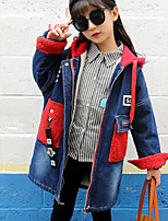 Girls' Solid Trench Coat Blue