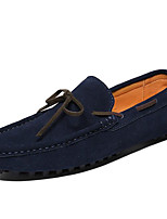 Men's Shoes Nappa Leather Fall Winter Moccasin Loafers & Slip-Ons For Casual Party & Evening Blue Coffee Gray Black